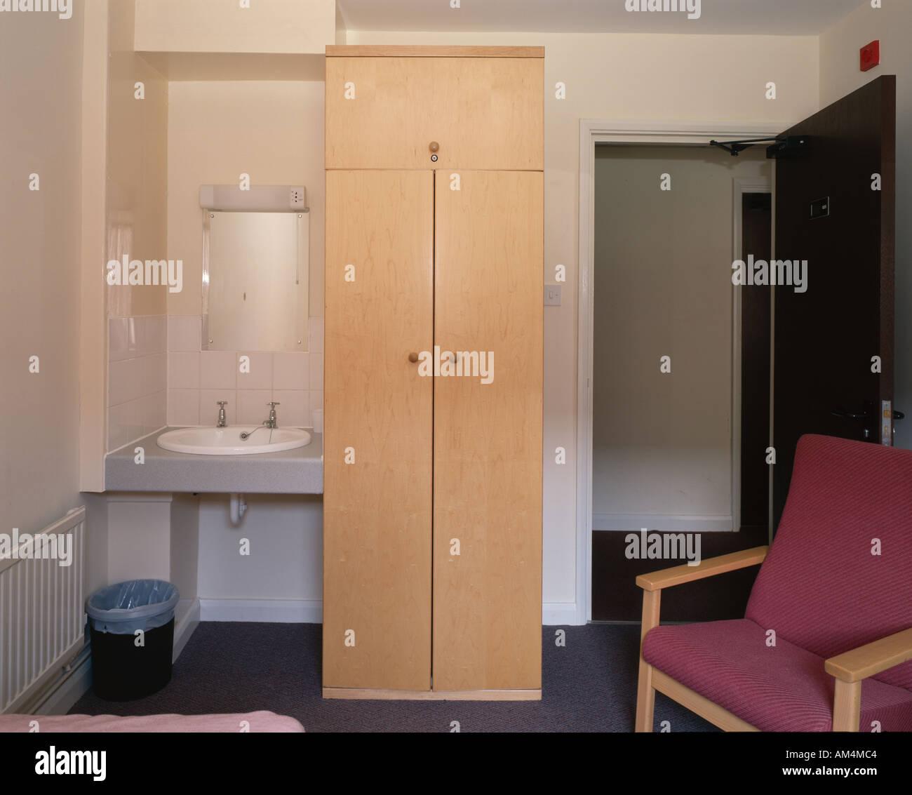Student Housing, Loughborough University. Bedroom vanity unit Stock ...