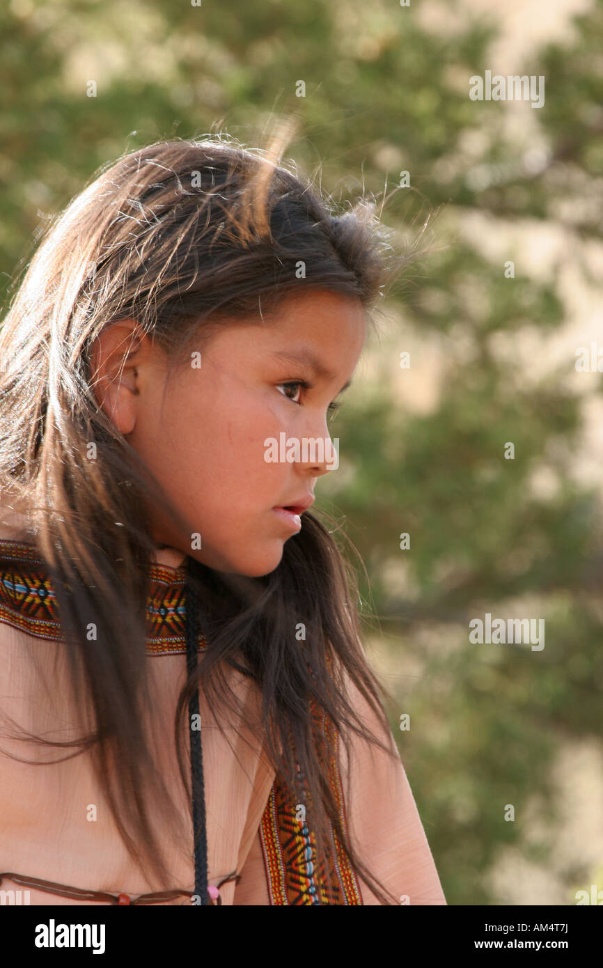 A young Native American Indian girl - Stock Image