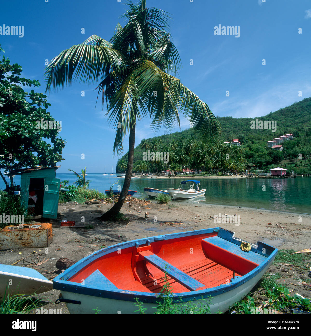 Marigot Bay, St Lucia, West Indies, Caribbean - Stock Image