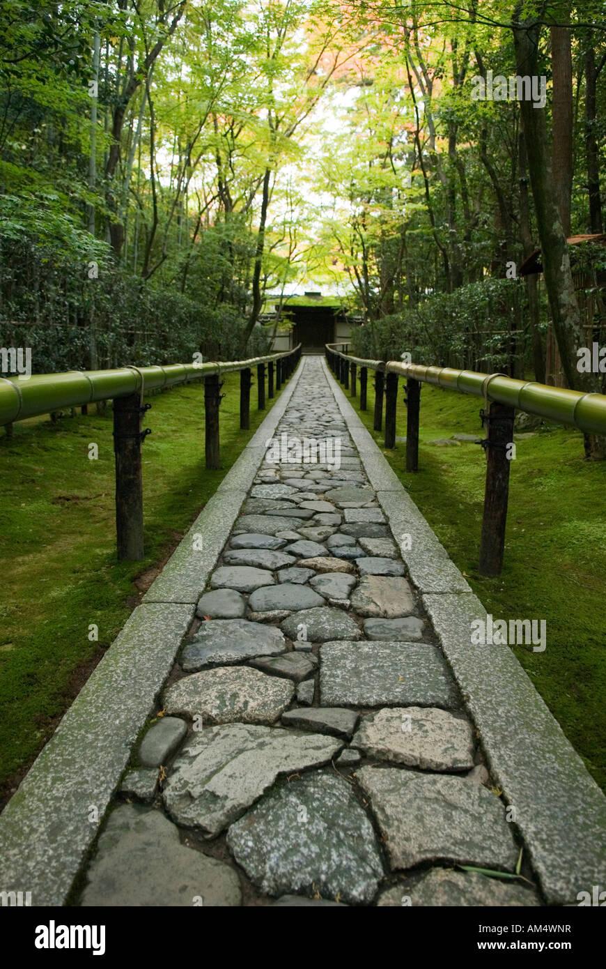Path to zen garden Kyoto Japan - Stock Image