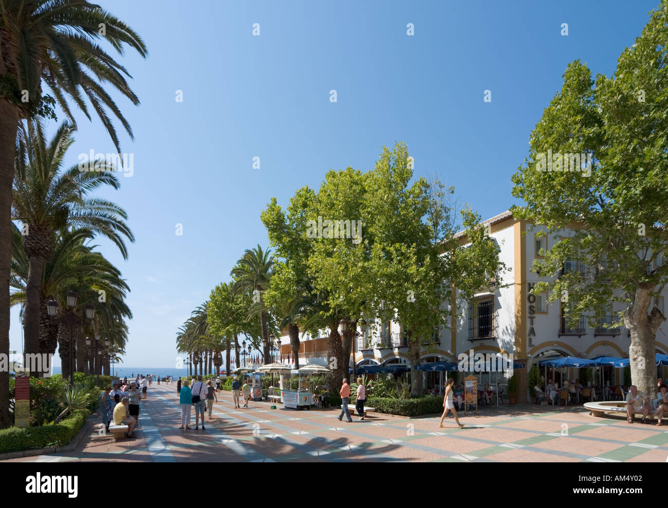 Balcon de Europa, Nerja, Costa del Sol, Andalucia, Spain Stock Photo