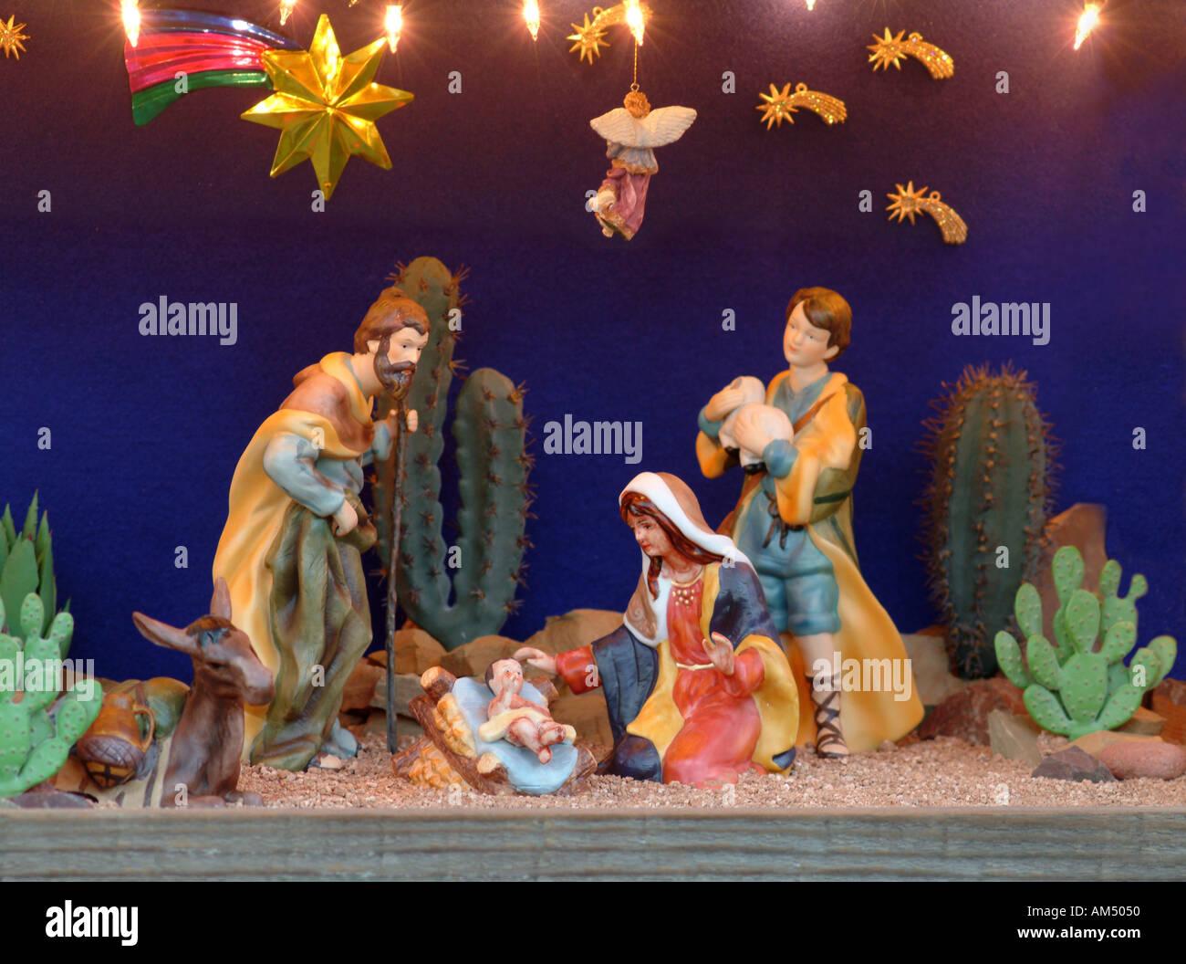 a christmas nativity scene stock image - Christmas Nativity Scenes