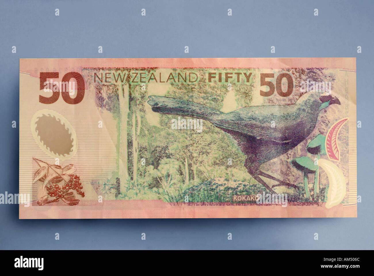50 dollar bill from New Zealand Stock Photo: 1331307 - Alamy