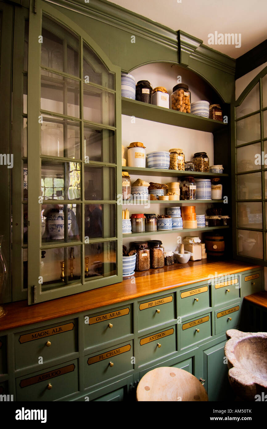Pasteur & Galt Apothecary Shop, Colonial Williamsburg Stock Photo