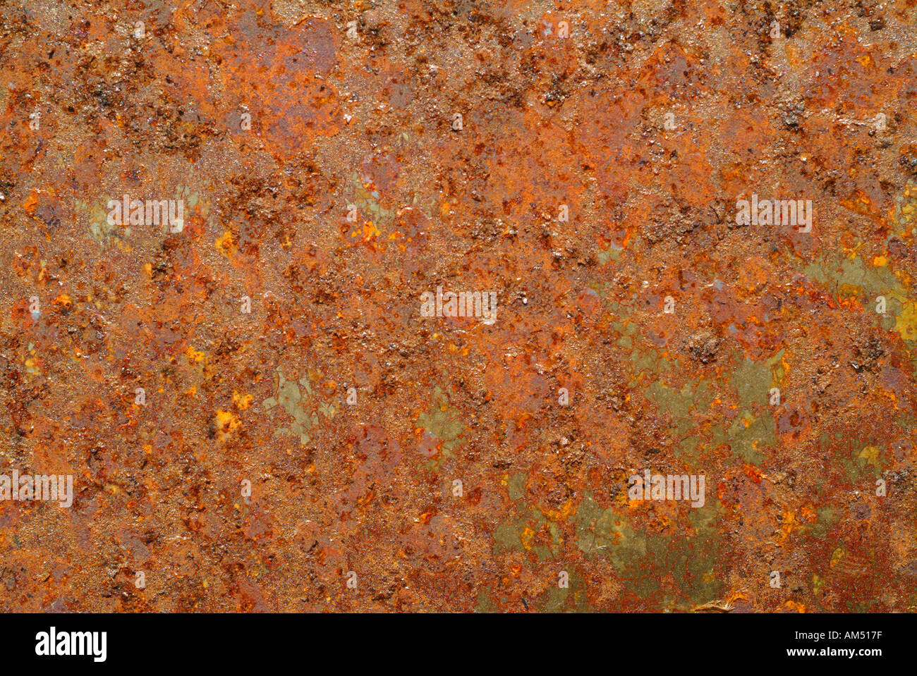 A sheet of rusty metal for backgrounds - Stock Image