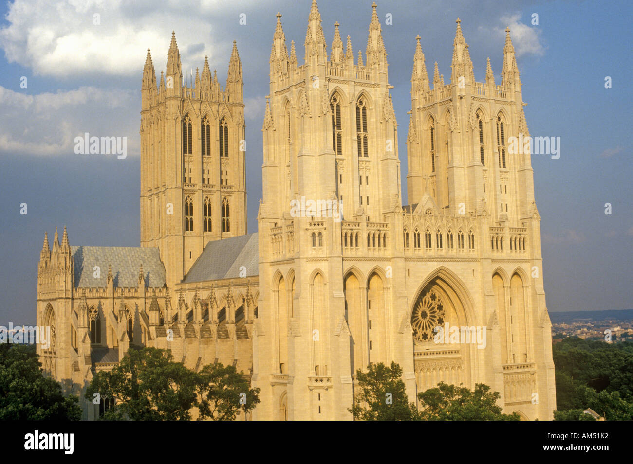 Washington National Cathedral officially the Cathedral Church of Saint Peter and Saint Paul Washington DC - Stock Image