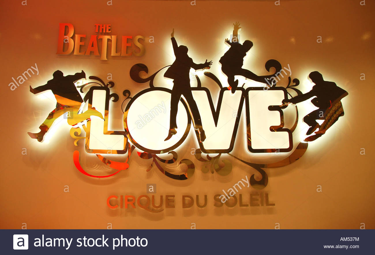 Entrance to Cirque Du Soleil show LOVE, featuring The Beatles, at the Mirage Hotel, Las Vegas - Stock Image