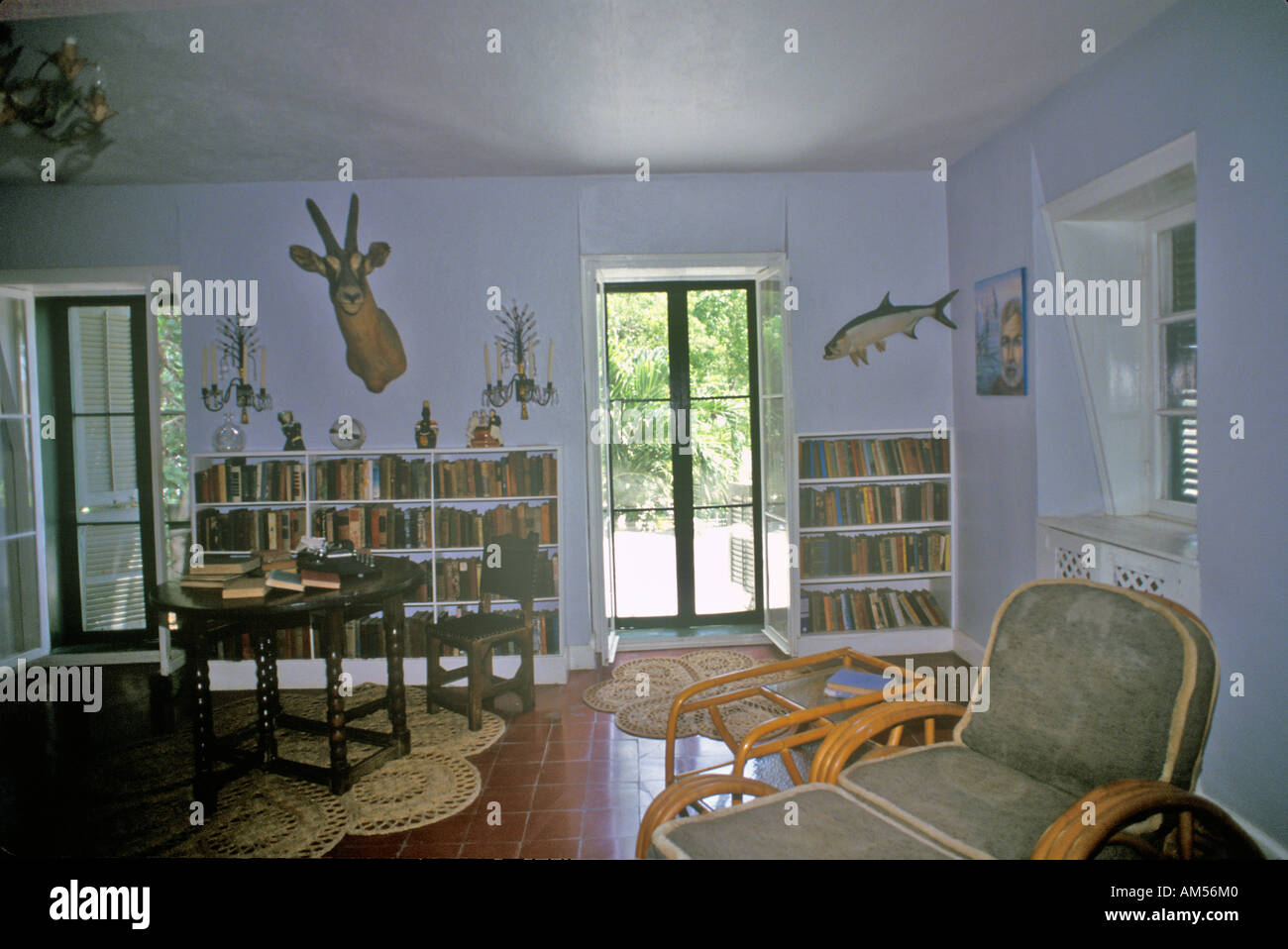 The Ernest Hemingway Home and Museum Key West Florida Stock Photo