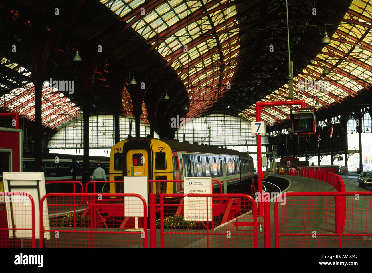 Network South East train Brighton railway station 1991 Sussex EnglandStock Photo