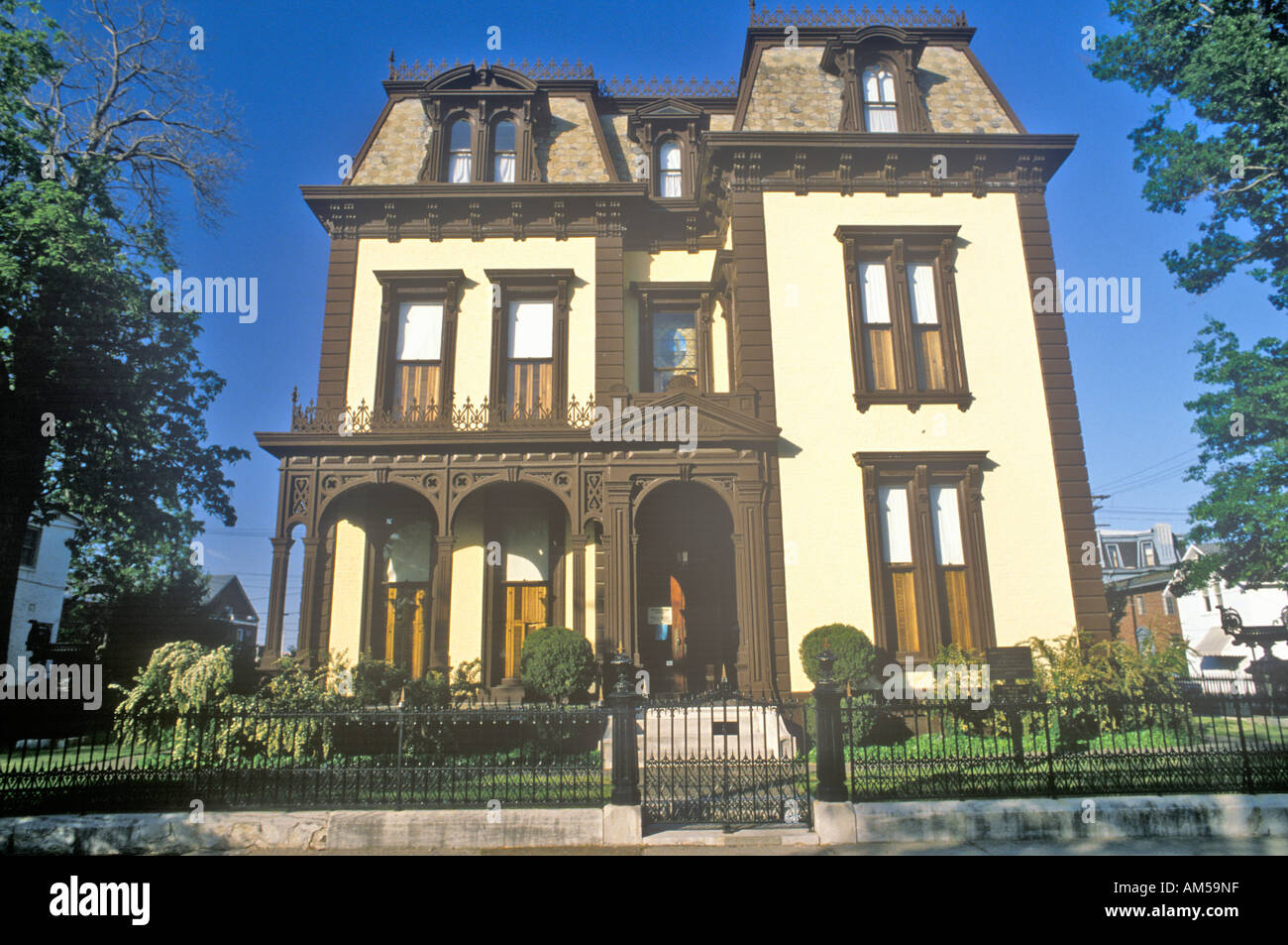 Victorian Home in Evansville Indiana - Stock Image