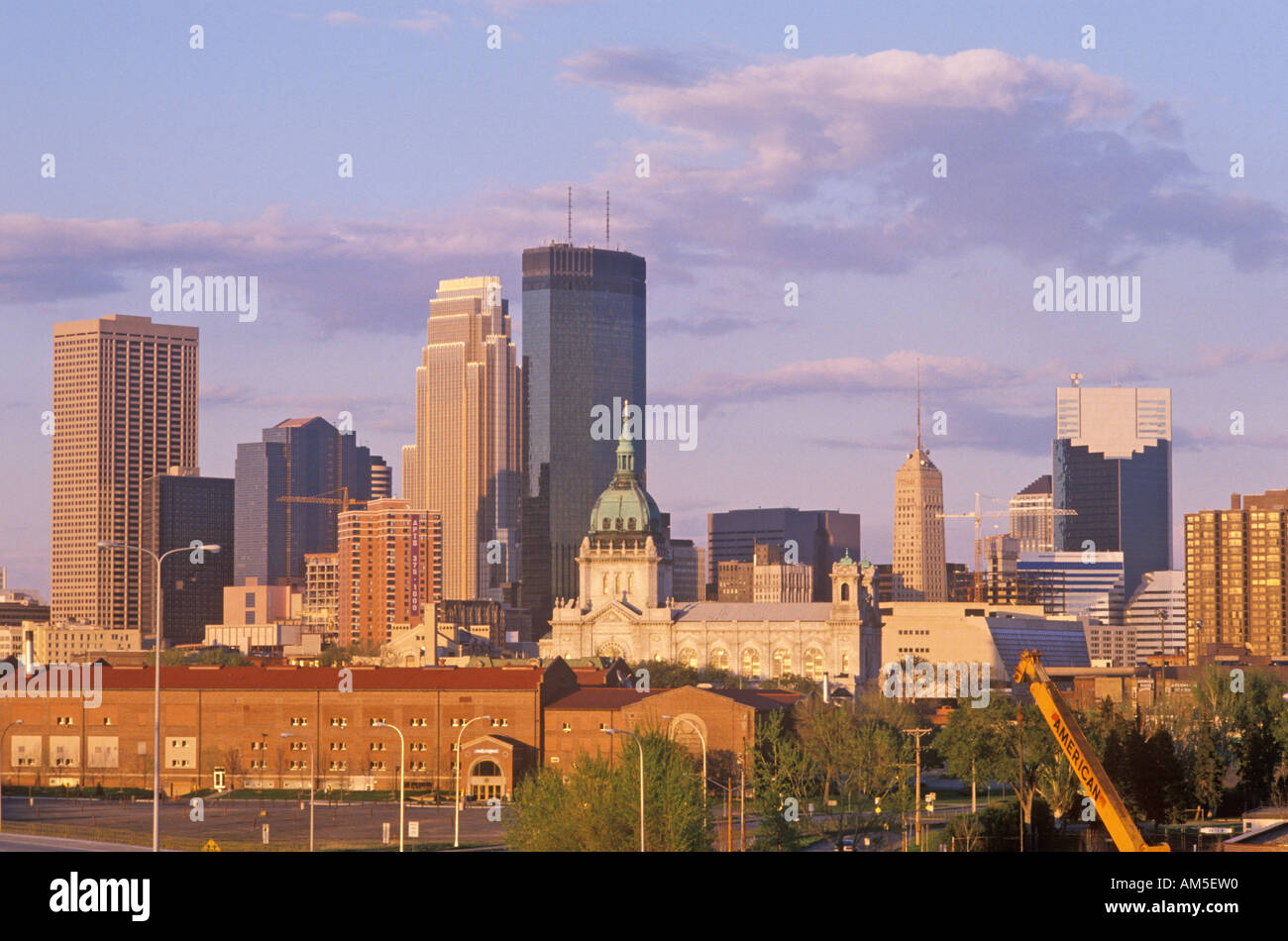 Minneapolis MN skyline - Stock Image