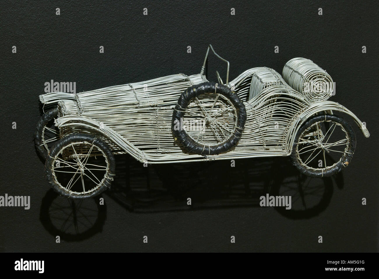 artsandcrafts car made of silver wire nationalculture
