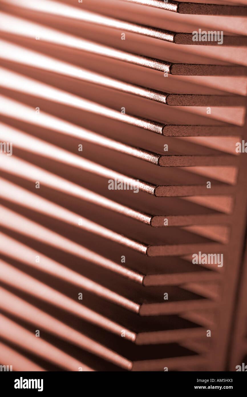 pink metal heat sink computer hardware Stock Photo