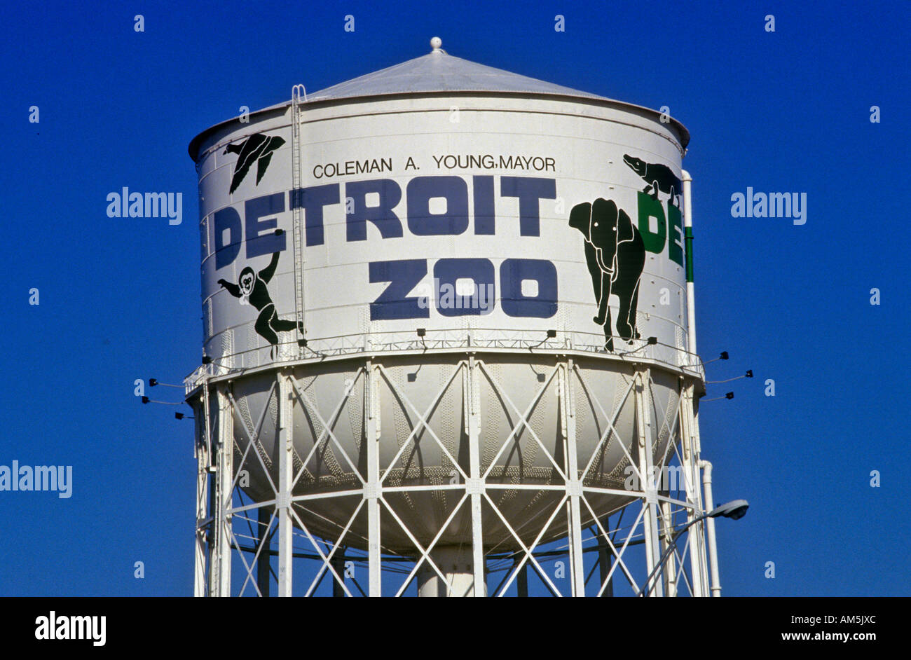 Water Tower At Detroit Zoo In Detroit Mi Stock Photo Alamy