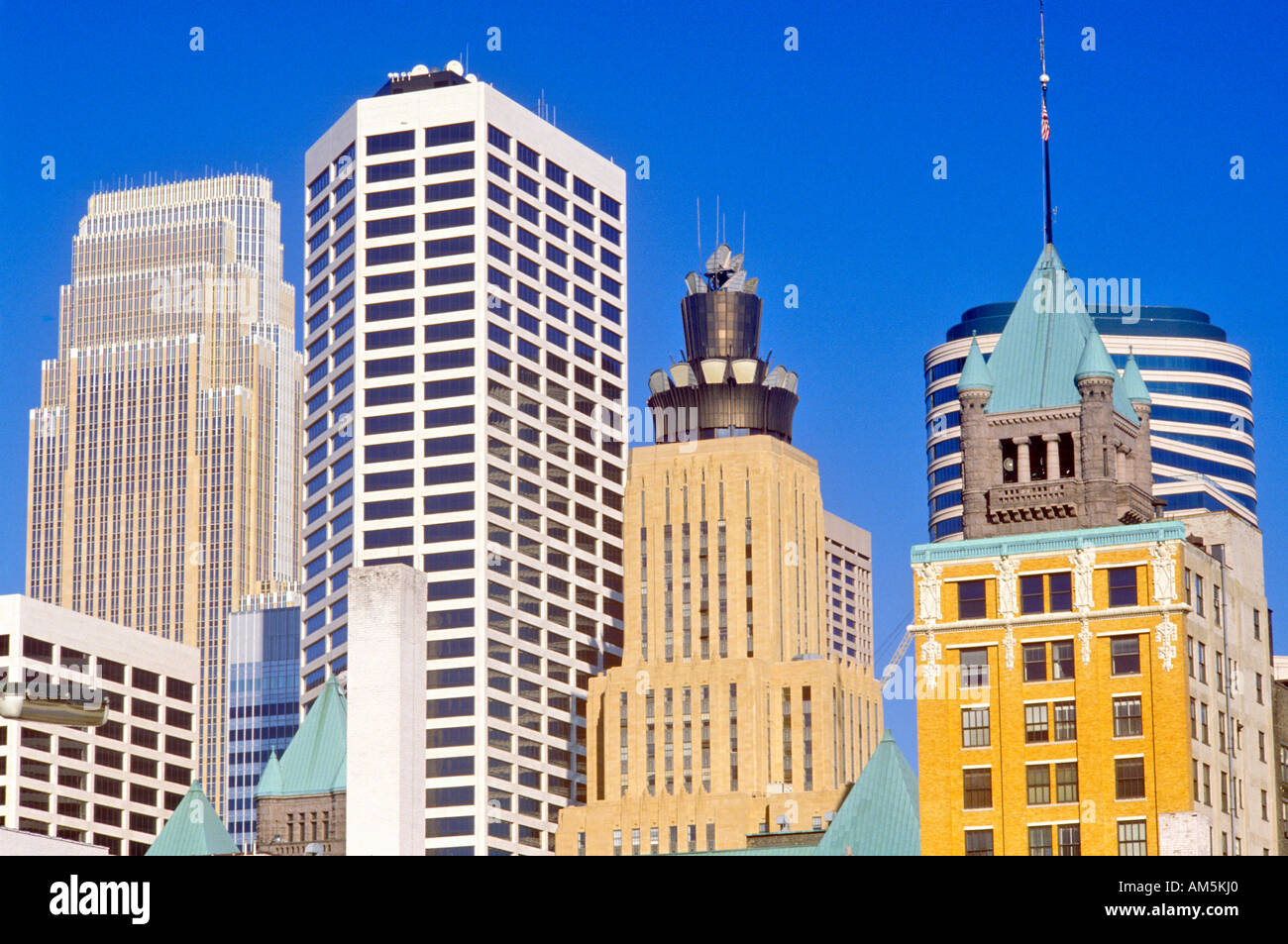 Morning view of Minneapolis MN skyline - Stock Image