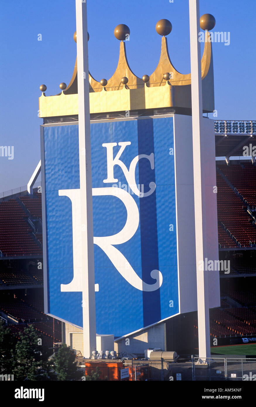Kansas City Royals Baseball Stadium Kansas City MO - Stock Image