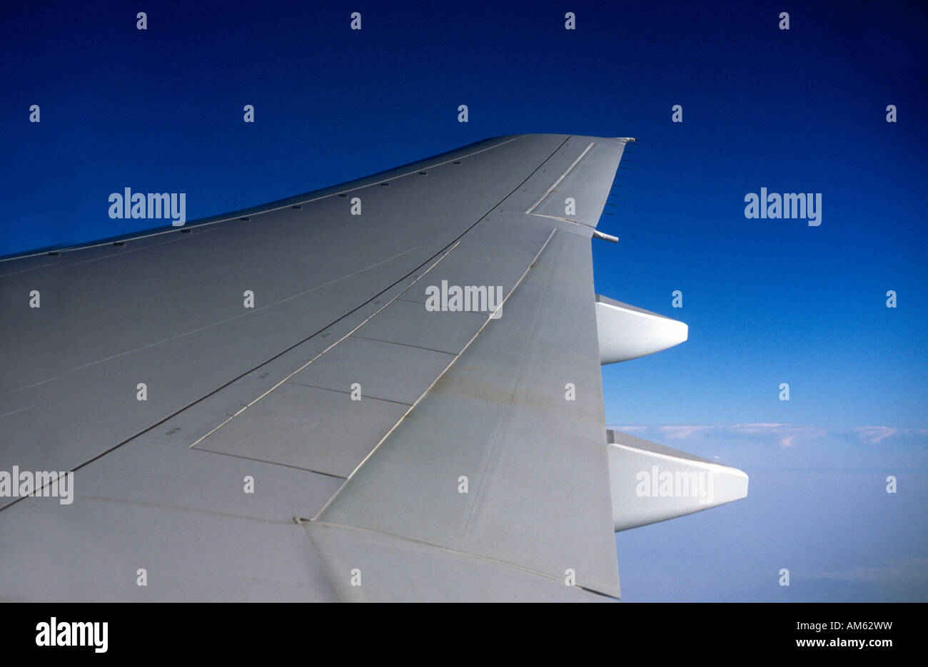 Wing Of Aeroplane Boeing 777 - Stock Image
