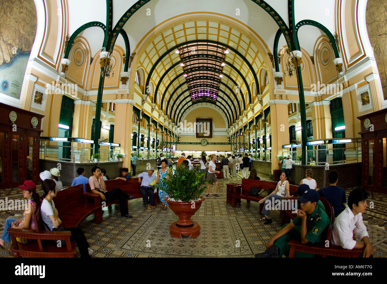The main post office in Saigon, Vietnam, Asie - Stock Image