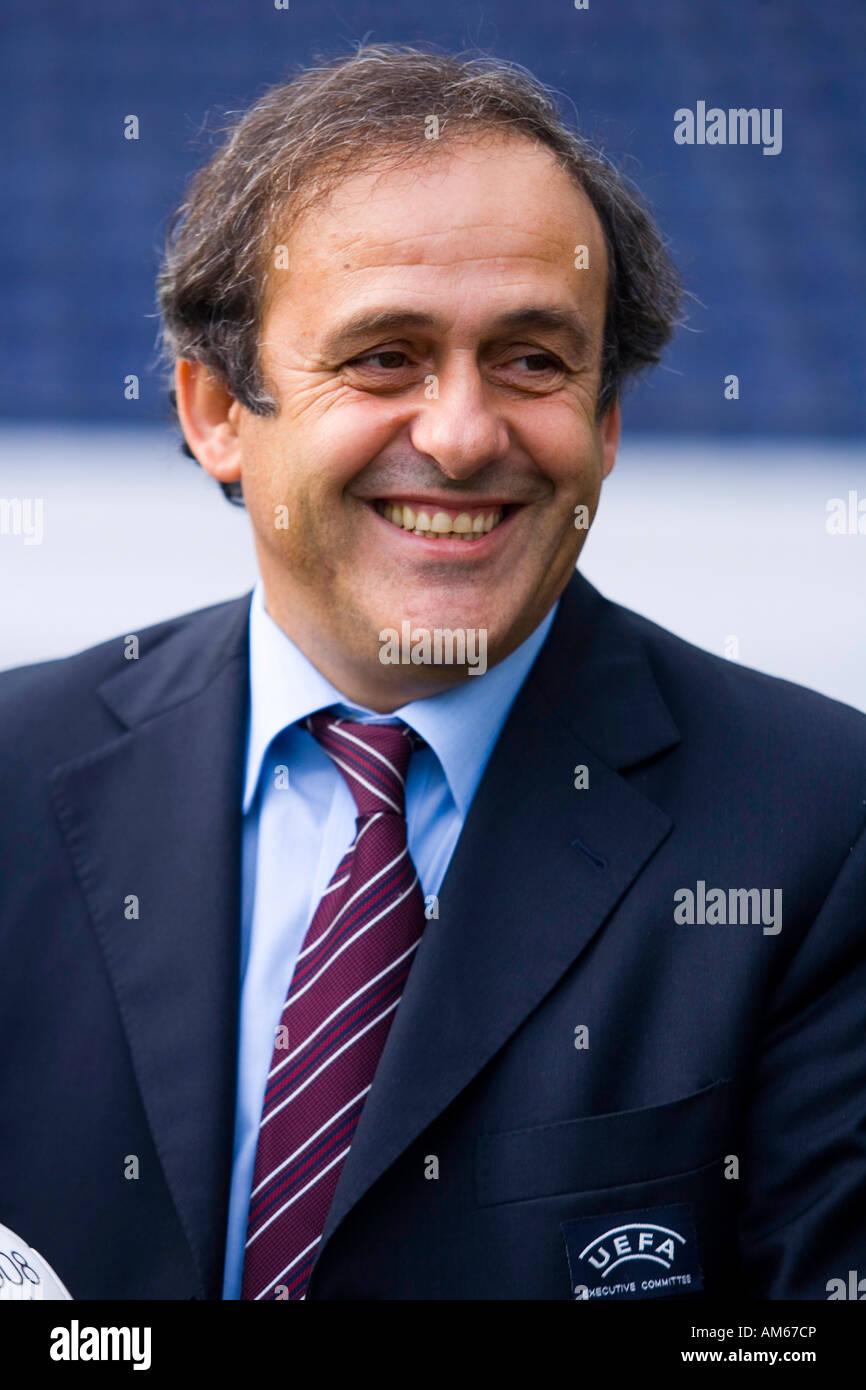 Michel Platini (UEFA president), Wals-Siezenheim, Austria - Stock Image