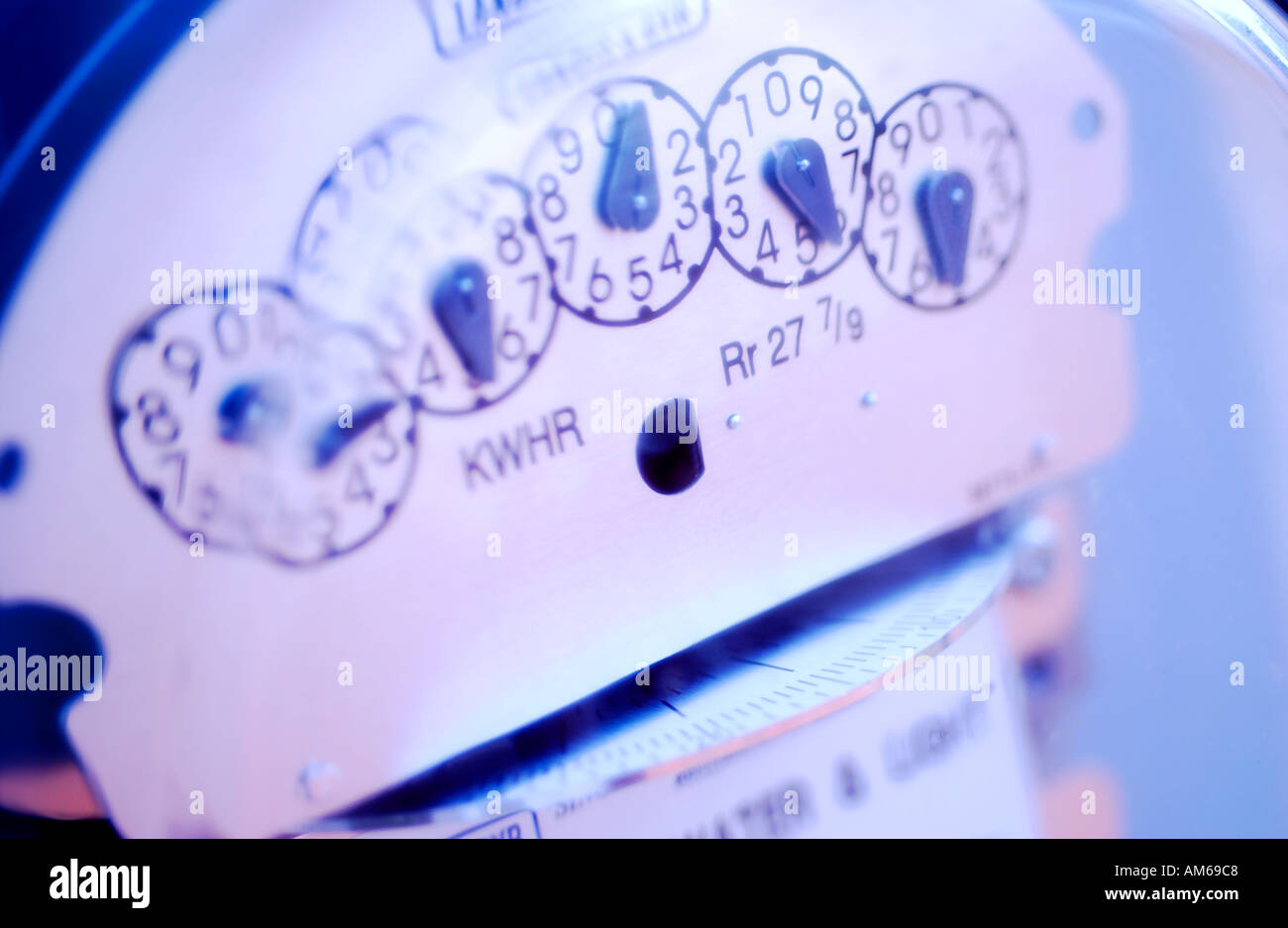 Electricity power meter - Stock Image