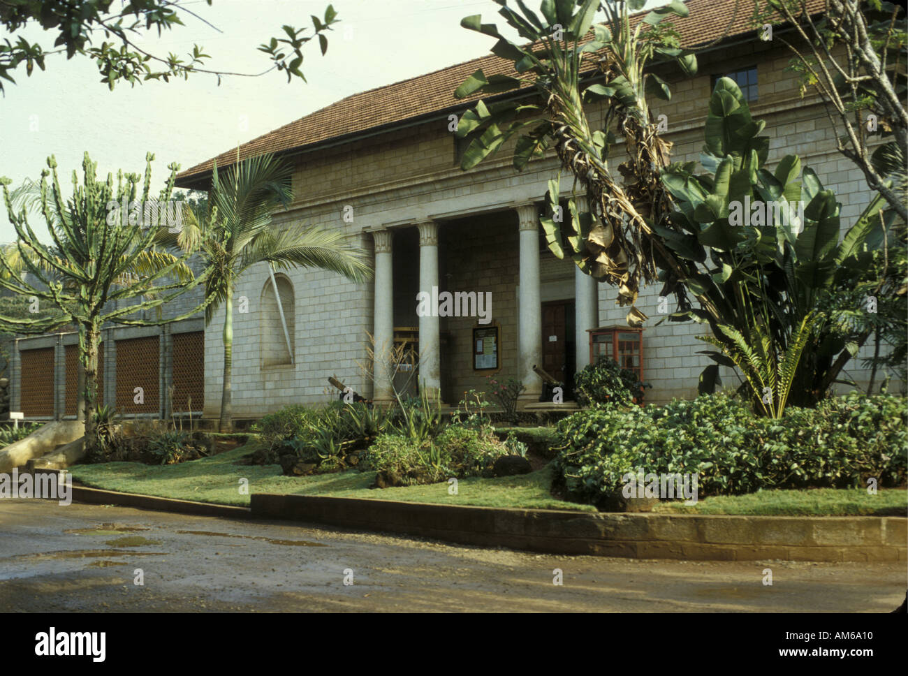Entrance to the old Coryndon Museum in Nairobi which has now been rebuilt and become the National Museum Nairobi Stock Photo