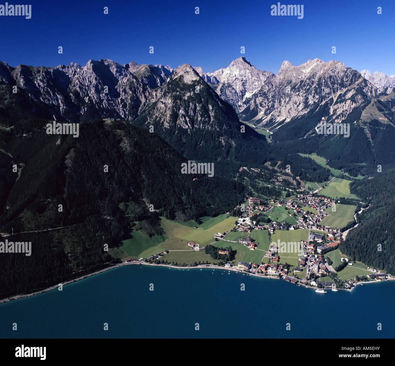 Achensee, Pertisau, behind Karwendel, Tyrol, Austria Stock Photo