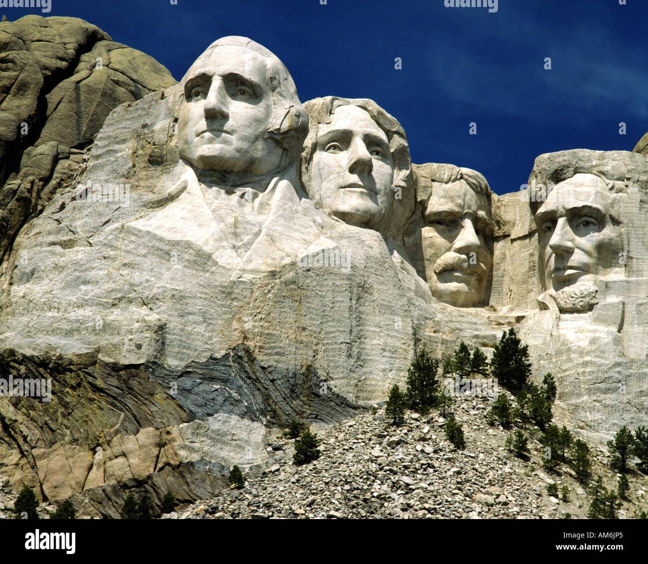 USA - SOUTH DAKOTA:  Mount Rushmore National Memorial Stock Photo