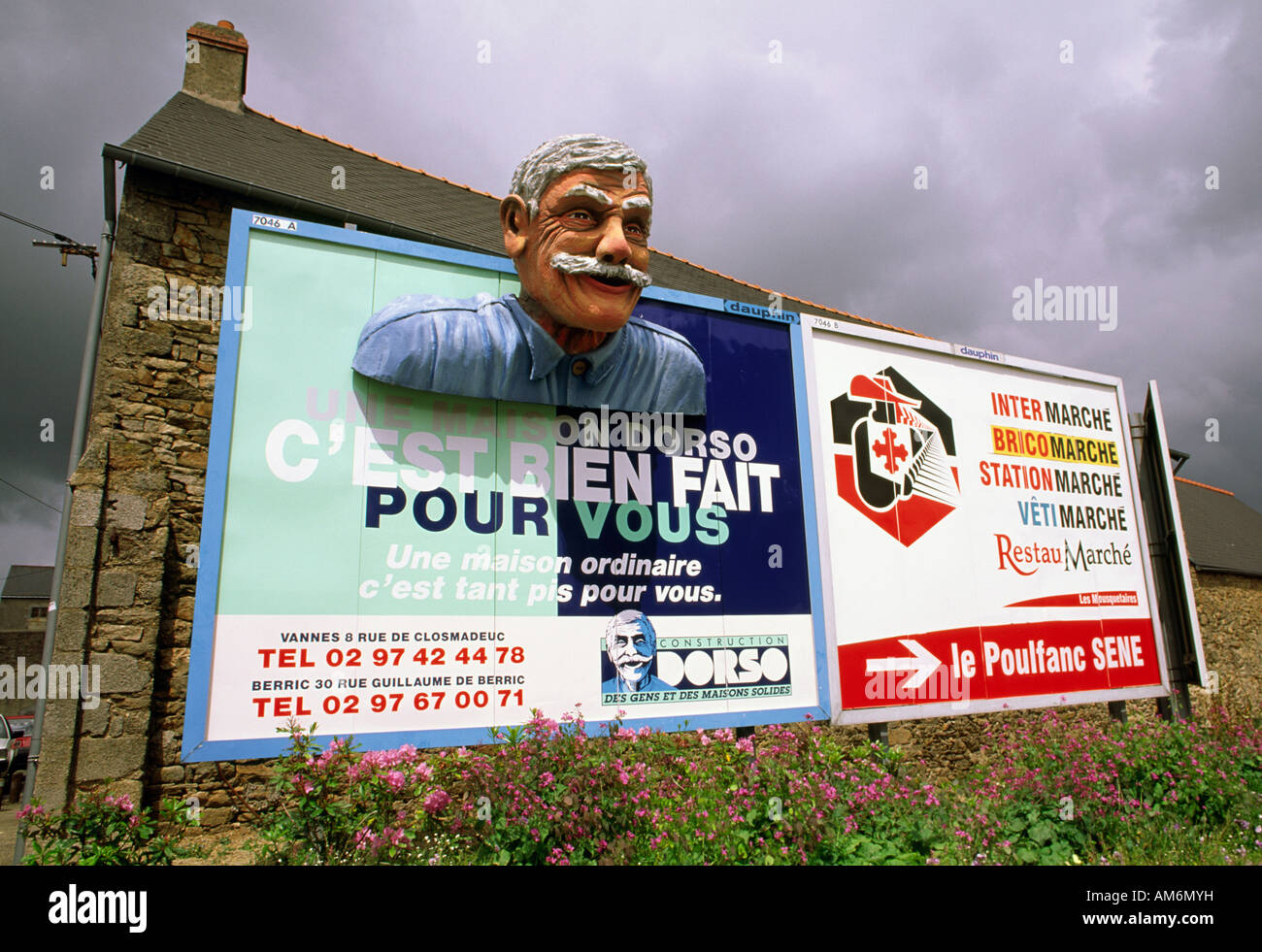 Advertising billboard Vannes France - Stock Image