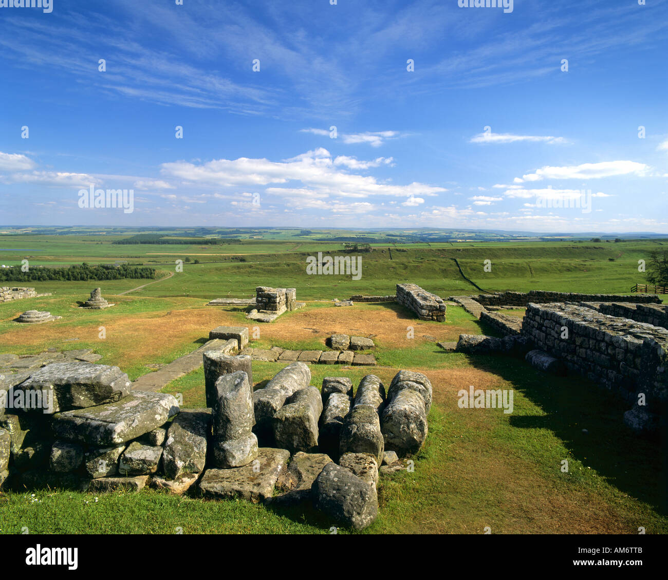 GB - NORTHUMBERLAND:  Housesteads at Hadrian's Wall - Stock Image
