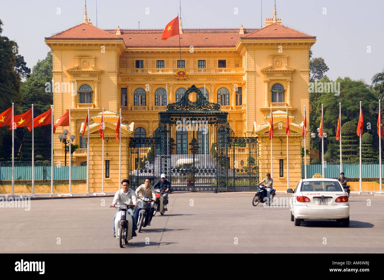 Vietnam Presidential Palace in Hanoi - Stock Image