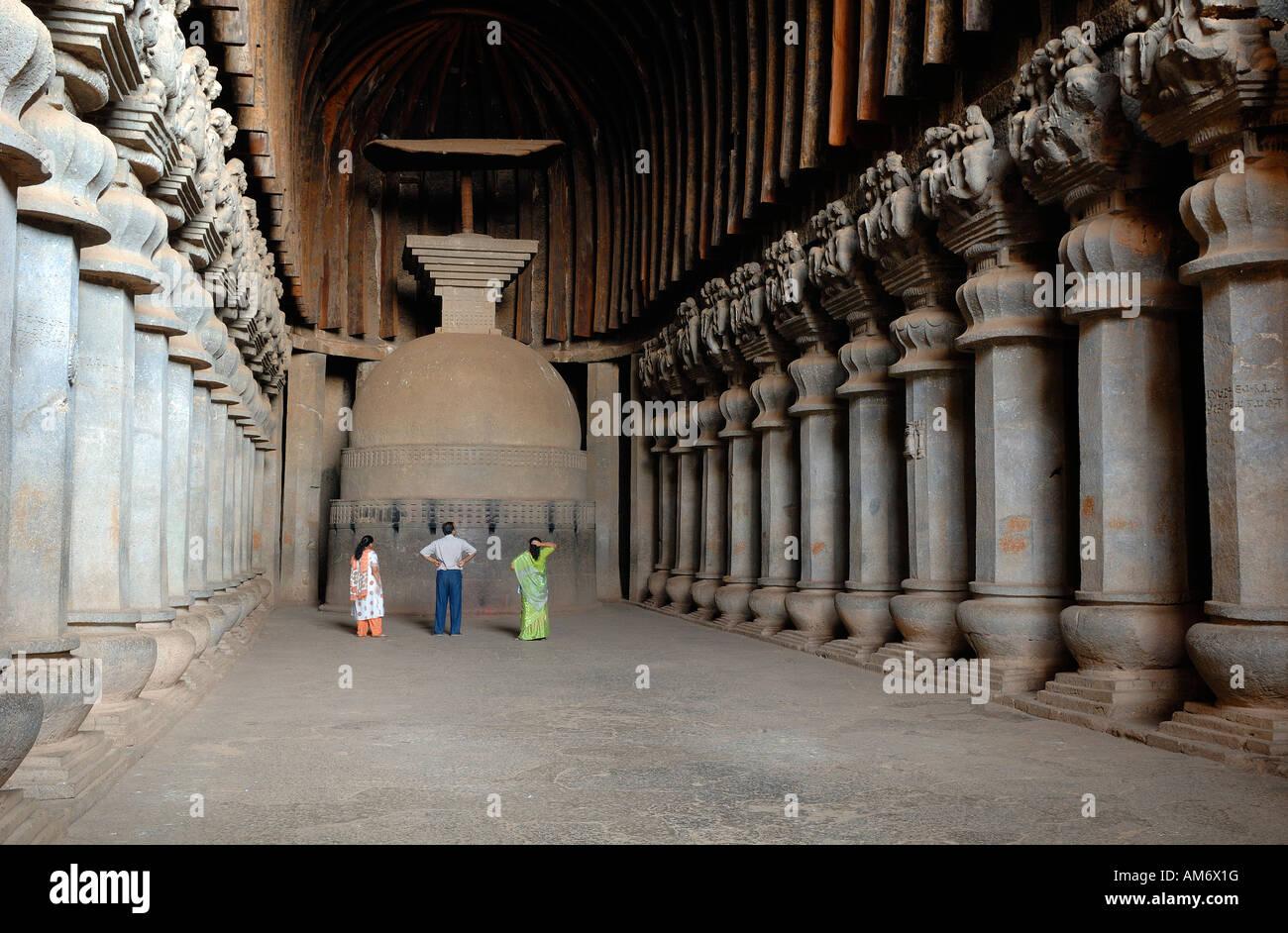 India, Karnataka, 2nd century BC Bhaja grottos - Stock Image