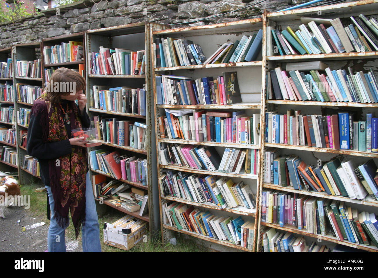 Hay on Wye Book Festival 2005 Mid Wales - Stock Image