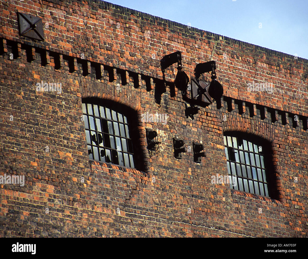Facade detail to Stanley Dock Warehouse Liverpool 1848 by Jesse Hartley  Stock Photo