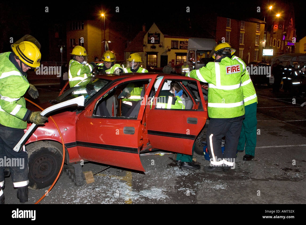 Road Traffic Accident Simulation in Chesterfield Derbyshire ...