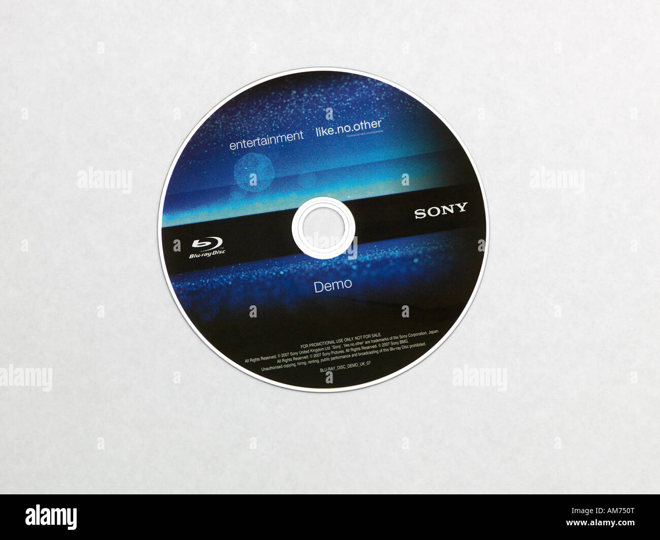 Blu Ray Disc Showing the BD Label - Stock Image