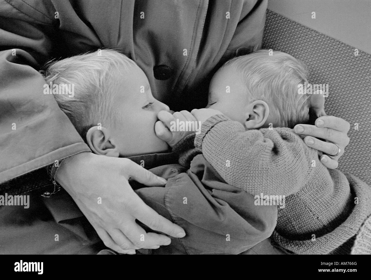Two children in the sixties - Stock Image