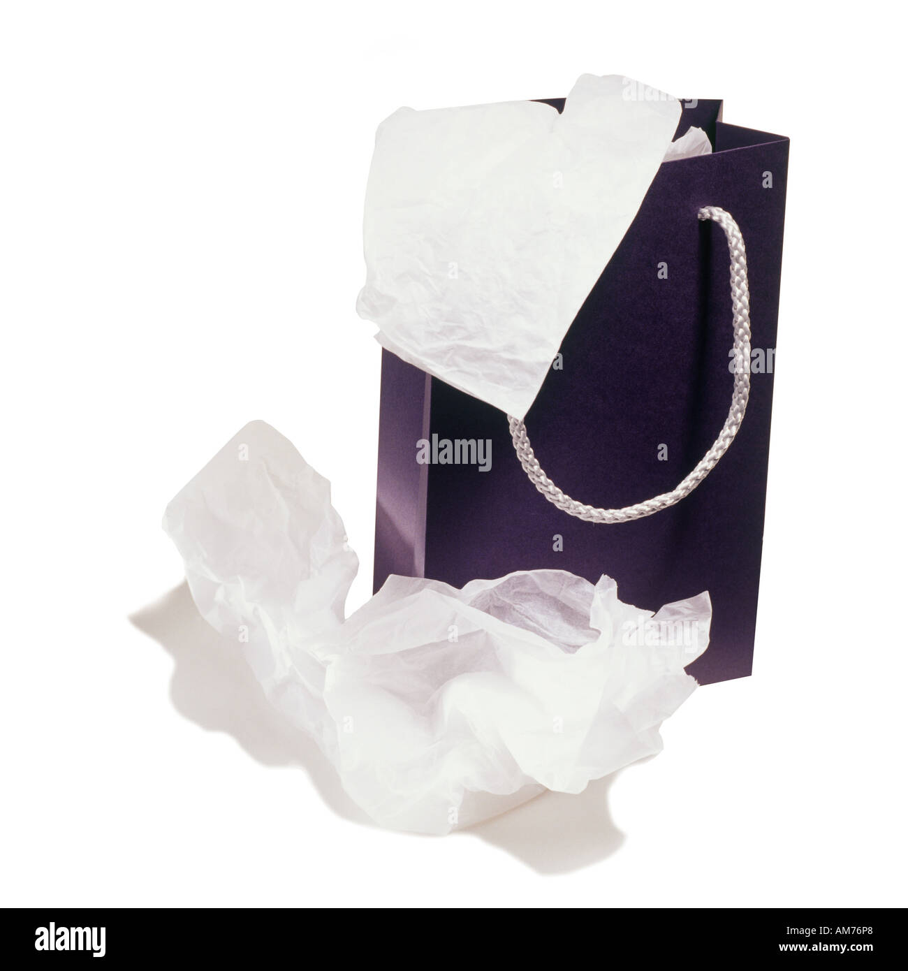 A gift bag and tissue - Stock Image