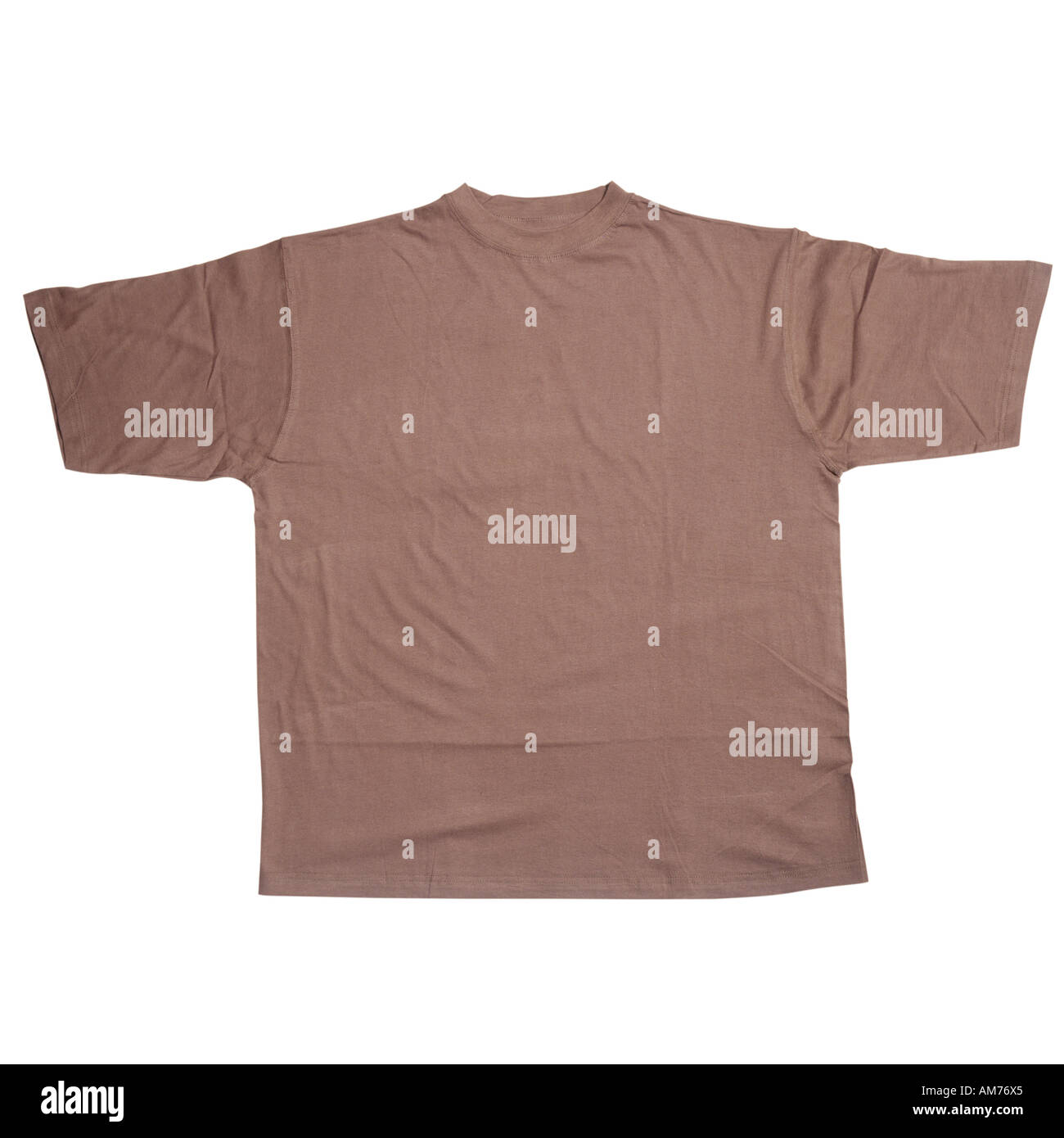 A brown t shirt - Stock Image