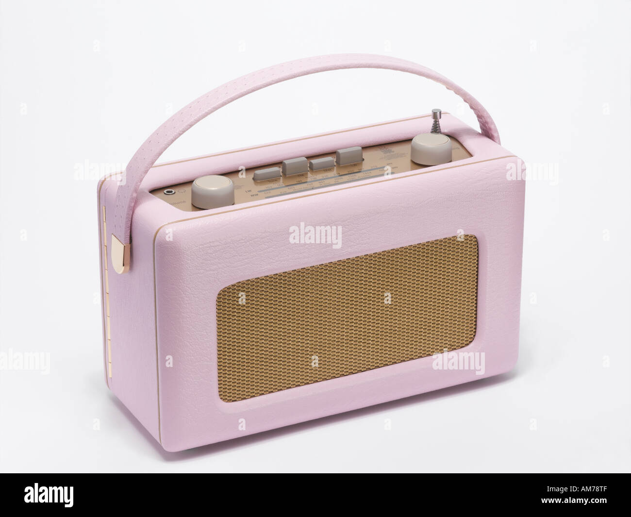 A pink radio - Stock Image