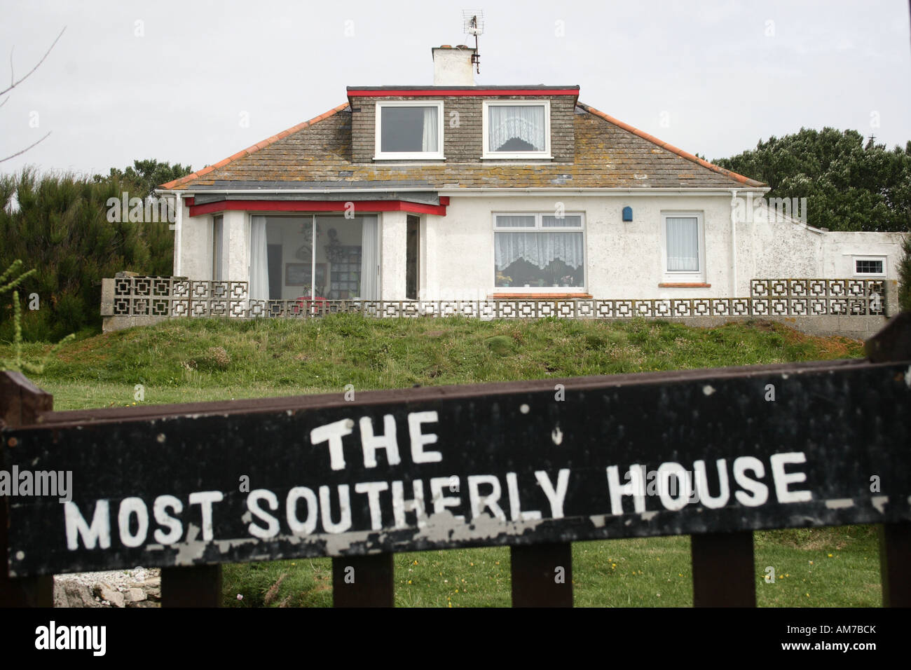 The most southerly house at the Lizard, Cornwall, UK. - Stock Image