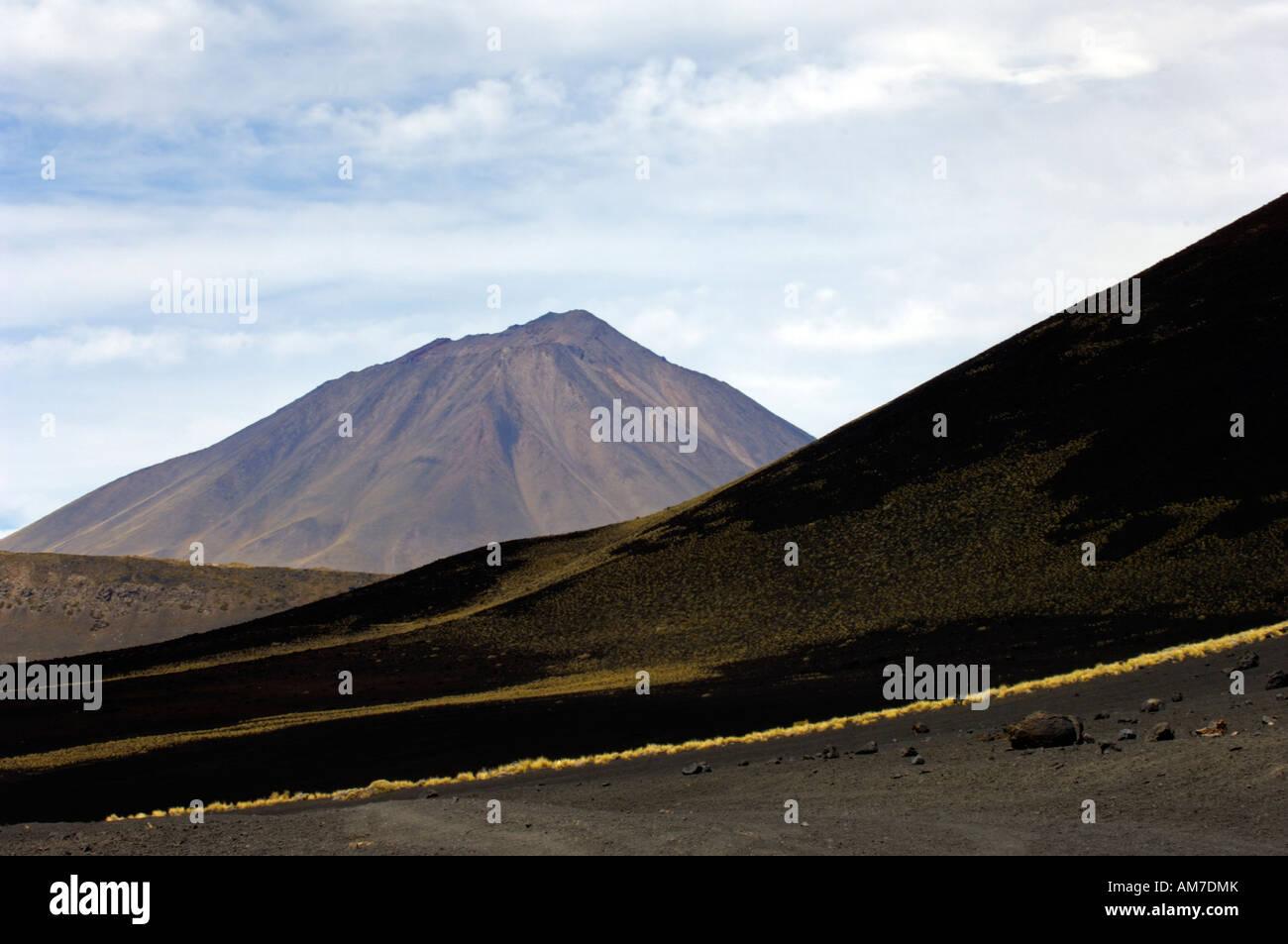 The volcanic landscape of Payunia Provincial Reserve in Malargue, Mendoza Province, Argentina Stock Photo