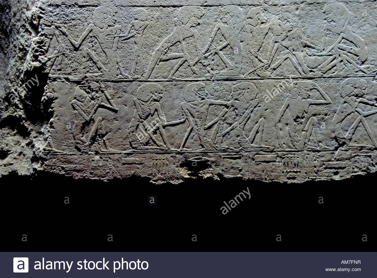 Section of Old kingdom relief found on Unas Causeway at Saqqara of ...