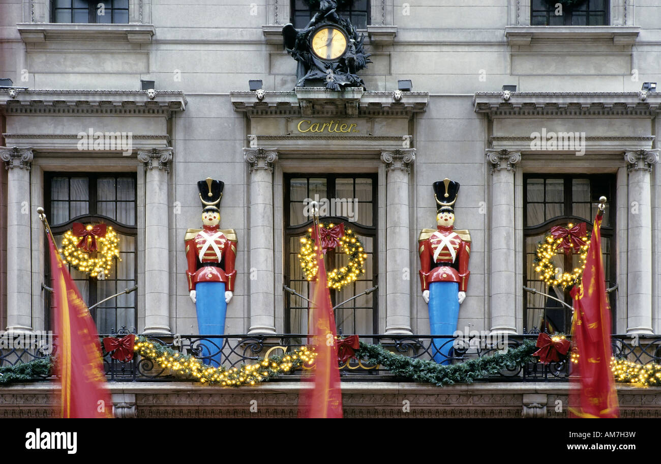 Christmas decoration at the front of Cartier, New York City, USA ...