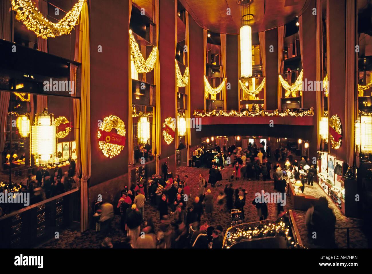 Foyer of the Radio City Music Hall, New York City, USA - Stock Image