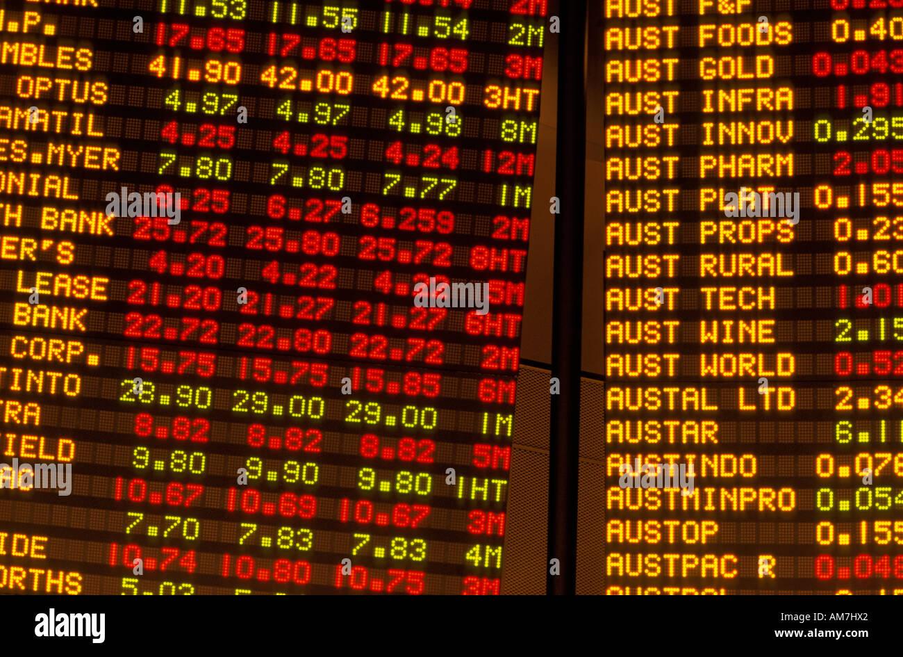 Stock Exchange, Melbourne, Australia - Stock Image
