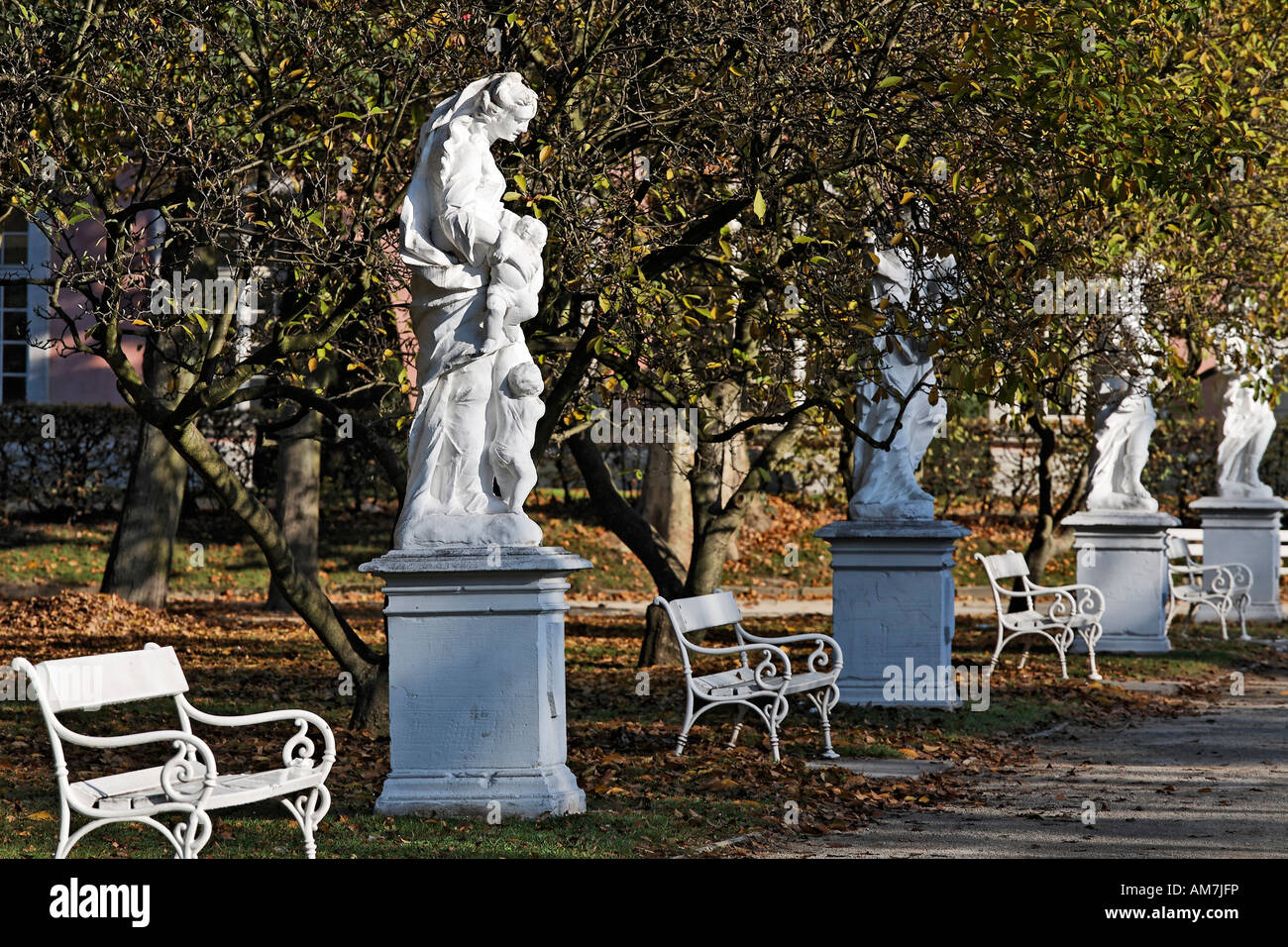 Palace grounds of the prince elector, Trier, Rhineland-Palatinate, Germany Stock Photo