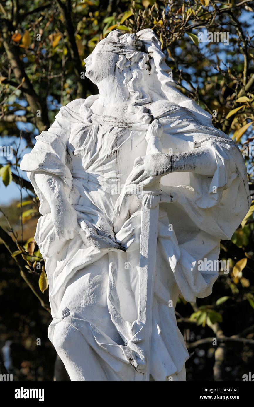 Allegorical sculpture, palace grounds of the prince elector, Trier, Rhineland-Palatinate, Germany Stock Photo