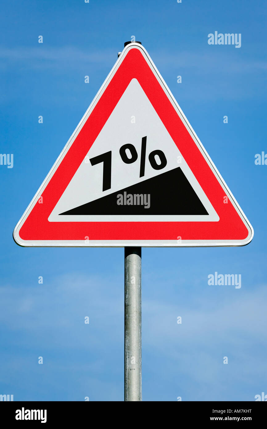7 % profit tax dividend gain increase gradient - symbolic picture - series - Stock Image