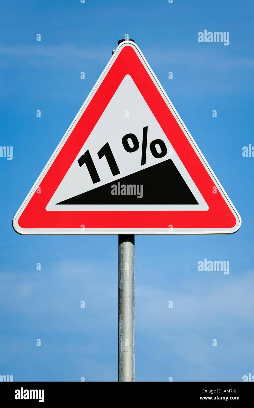 11 % profit tax dividend gain increase gradient - symbolic picture - series - Stock Image