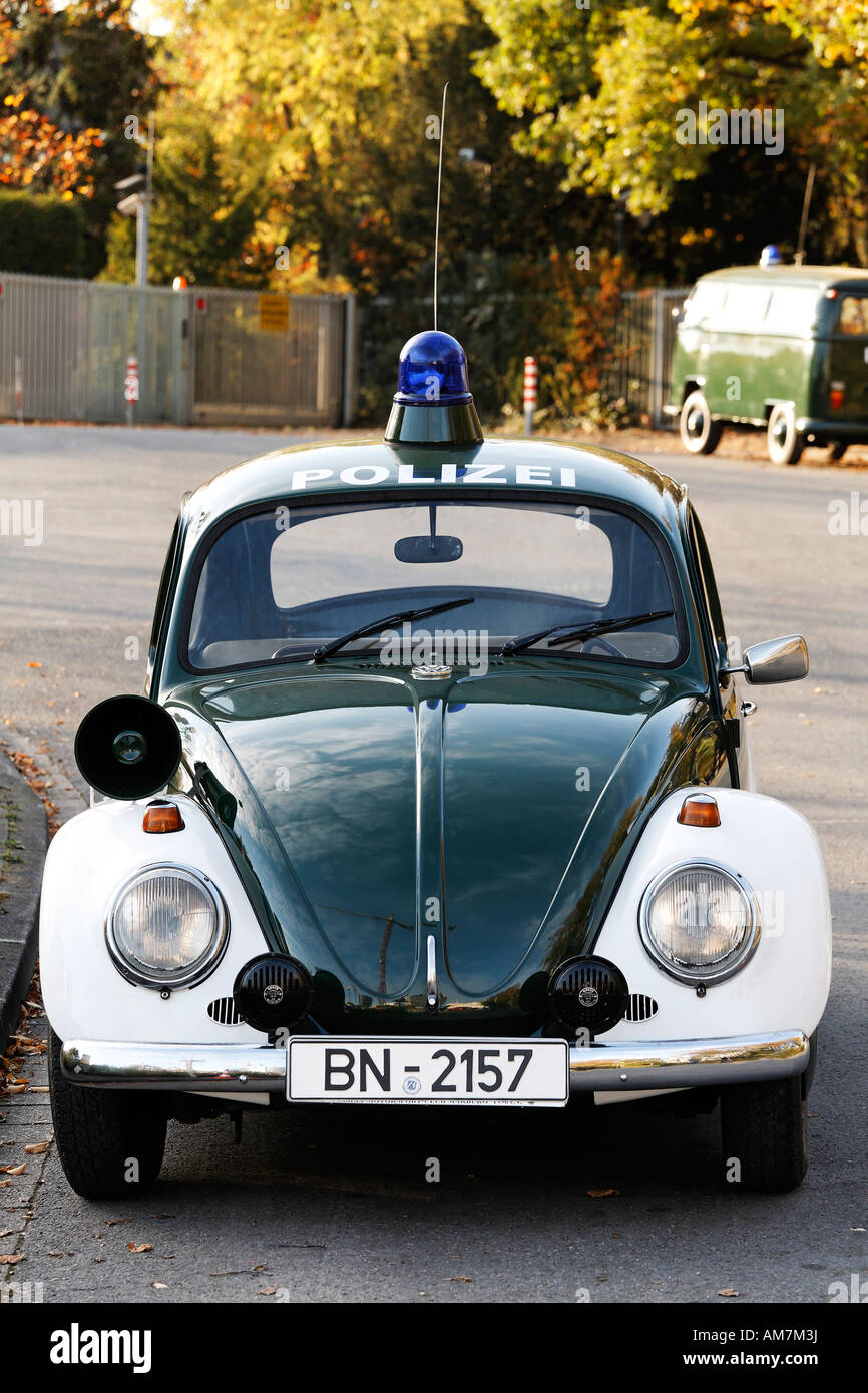 Patrol car of the German police, VW, 1967, Germany Stock Photo
